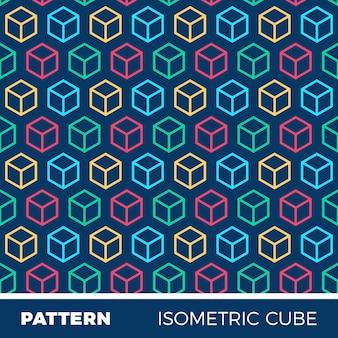 Padrão de fundo geométrico abstrato com cubos isométricos
