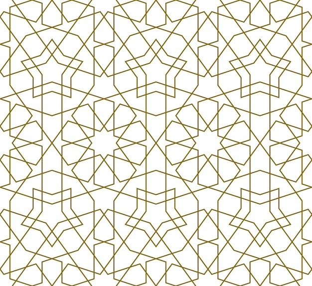 Padrão de fundo sem emenda com base na arte islâmica tradicional.