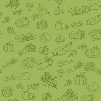 Padrão de fundo sem emenda com legumes
