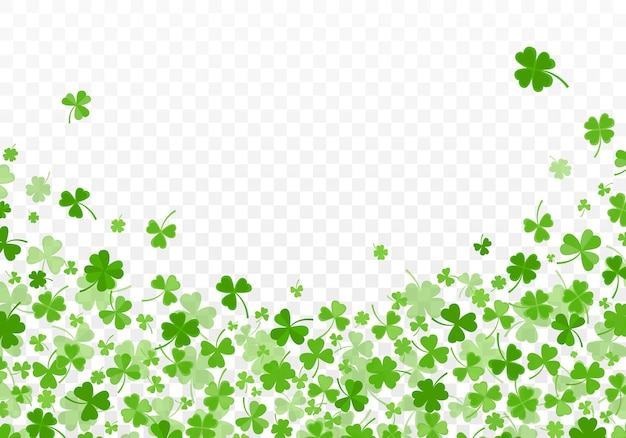 Padrão de fundo verde com folhas de trevo ou trevo