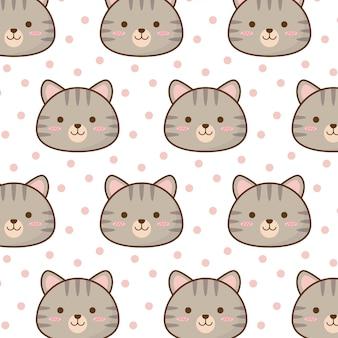 Padrão de gato fofinho