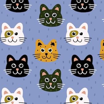 Padrão de gatos fofos