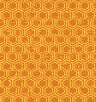Padrão de geometria de polígono vintage sem costura desgastado