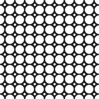 Padrão de grade abstrata sem costura com estrutura geométrica repetitiva conectada em uma ilustração de estilo mosaico minimalista