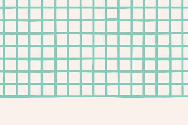 Padrão de grade verde simples em papel de parede bege