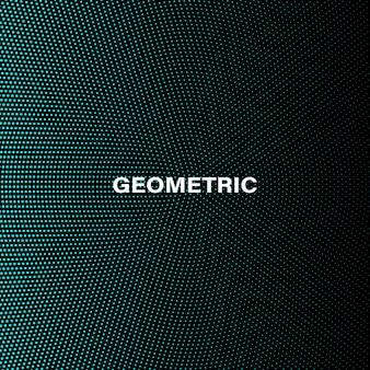 Padrão de gradiente de meio-tom. círculos azuis em fundo preto.