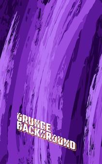 Padrão de grunge sem costura com textura abstrata. vetor premium