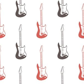 Padrão de guitarra, ilustração de música. capa criativa e luxuosa
