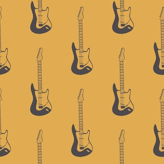 Padrão de guitarra, música de fundo. ilustração de estilo retrô e luxo