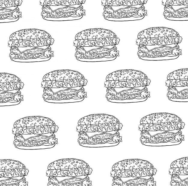 Padrão de hambúrguer sem costura