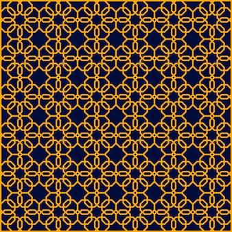 Padrão de hexágono azul sem costura geométrico abstrato de ouro
