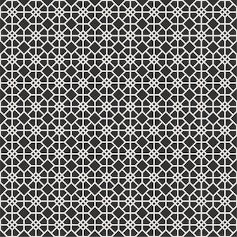 Padrão de hexágono sem costura moderna no quadro de luxo clássico estilo preto e branco de retângulo