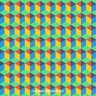 Padrão de hexágonos coloridos