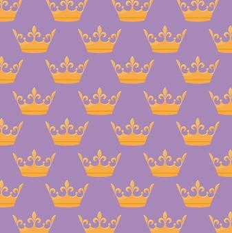 Padrão de ícone de coroa monárquica