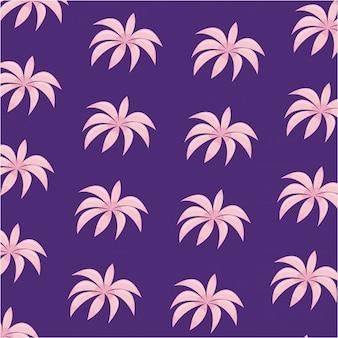 Padrão de ícone de folhas tropicais