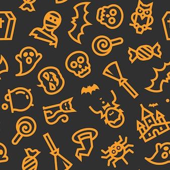 Padrão de ícones do dia das bruxas