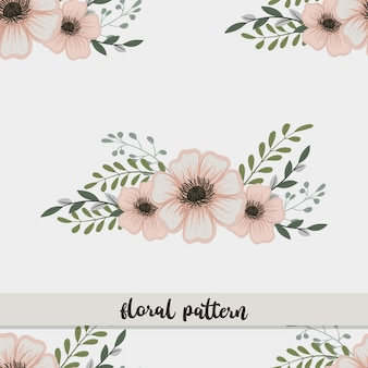Padrão de ilustração de flores