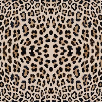 Padrão de impressão de leopardo. repetindo fundo animal vetor sem emenda
