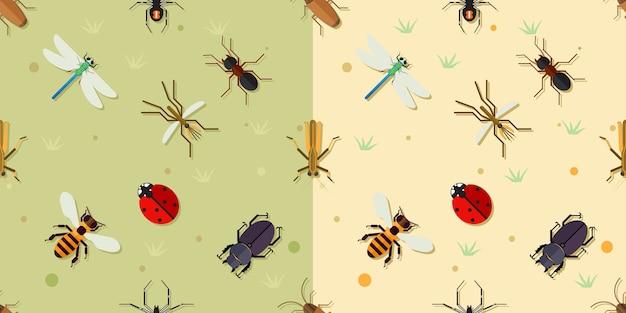 Padrão de insetos sealmess.
