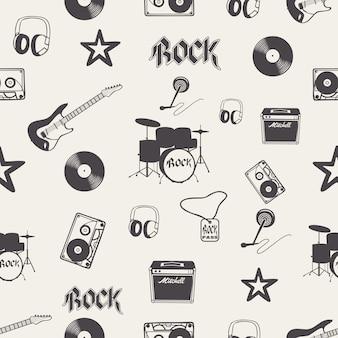 Padrão de instrumento musical. ilustração criativa e luxuosa