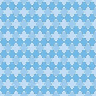 Padrão de inverno azul árabe textura sem costura turca grade de janela islâmica de ladrilhos de formas de lanterna