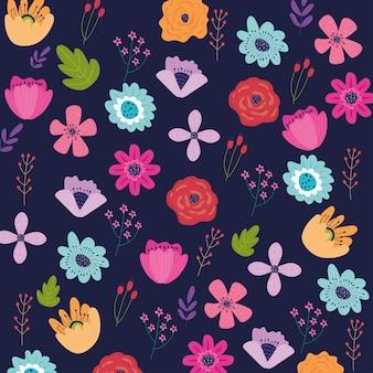 Padrão de jardim de flores