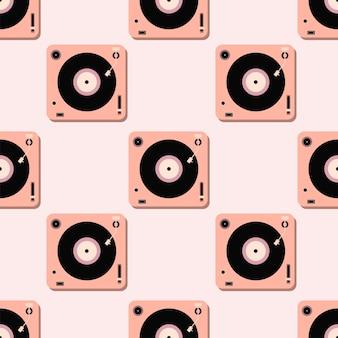 Padrão de jogadores para disco de vinil. música