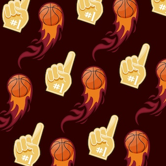 Padrão de jogo de basquete