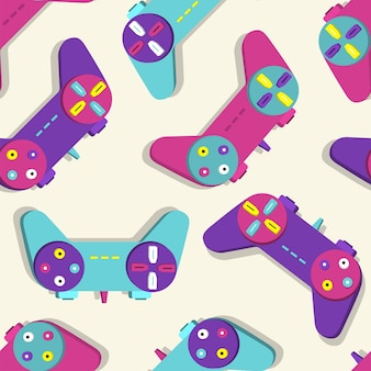Padrão de joystick retro console jogo dos anos 90. ilustração vetorial