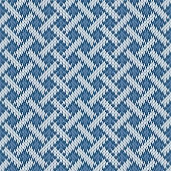 Padrão de lã tricotada sem costura sem fim com base no nó celta
