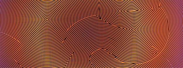 Padrão de labirinto circular em vetor