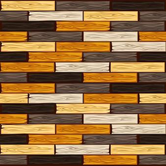 Padrão de ladrilhos de madeira coloridos de desenho animado