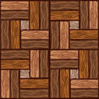Padrão de ladrilhos de madeira de desenho animado. placa de parquet de madeira de textura perfeita. ilustração para interface de usuário do elemento de jogo. cor 2