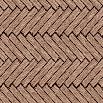 Padrão de ladrilhos de madeira de desenho animado. placa de parquet em espinha de madeira de textura perfeita.