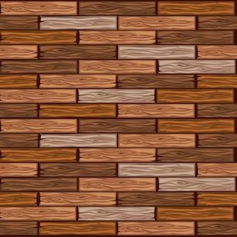 Padrão de ladrilhos de madeira de desenho animado