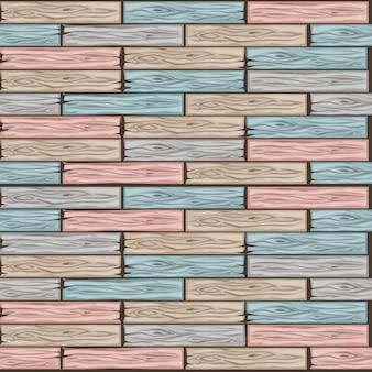 Padrão de ladrilhos de piso de madeira. placa de parquet de cores pastel de madeira de textura perfeita. ilustração dos desenhos animados para a interface do usuário do elemento do jogo. cor 6