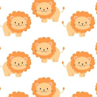 Padrão de leão bebê fofo