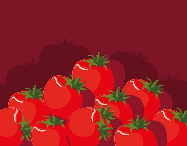 Padrão de legumes frescos tomates vermelhos