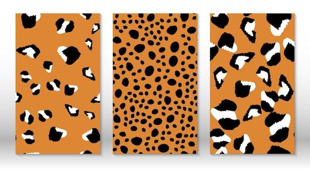 Padrão de leopardo de pele de animal. impressão de chita. modelo de design de capas. desenho de estampa leopardo.