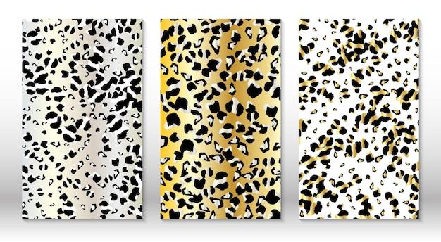 Padrão de leopardo de pele de animal. impressão de chita.