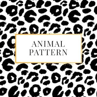 Padrão de leopardo preto e branco sem costura