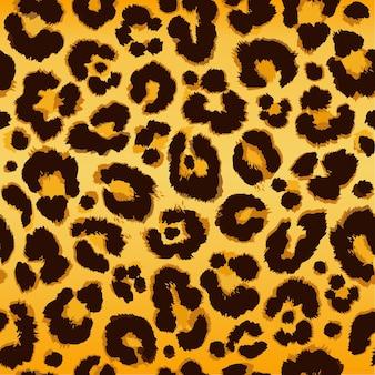 Padrão de leopardo sem costura.