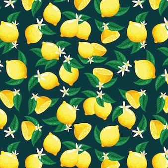 Padrão de limão bonito