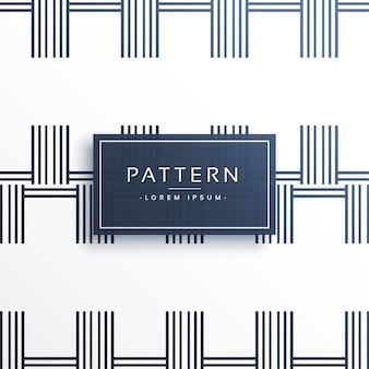 Padrão de linha abstrata de estilo geométrico