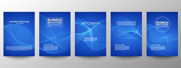 Padrão de linha abstrata para design de cartaz conjunto
