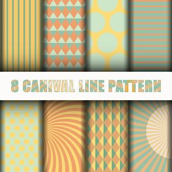 Padrão de linha de carnaval