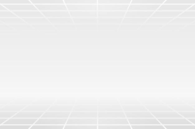 Padrão de linha de grade branca em um fundo cinza