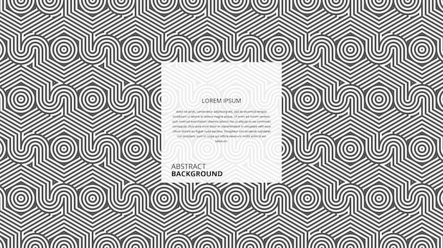 Padrão de linhas abstratas geométricas círculo hexagonal