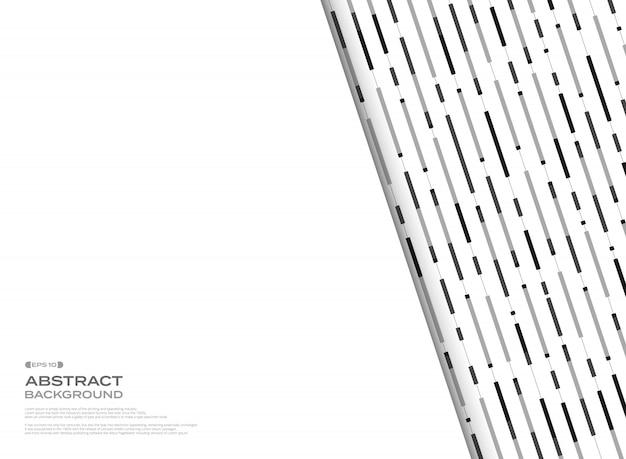 Padrão de linhas abstratas preto e branco listra geométrica