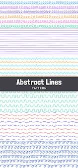 Padrão de linhas abstratas